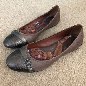 Born brown leather flats